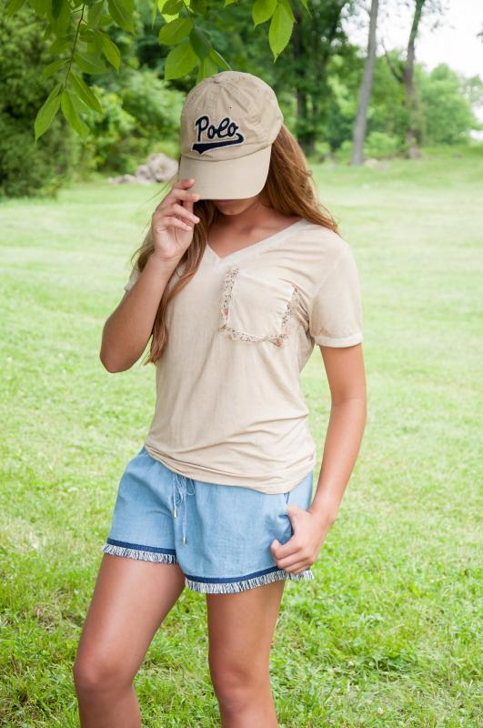 GOLD ACCENT POCKET TOP